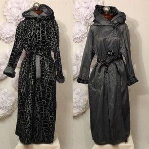 MYCRA PAC reversible long raincoat S M 1 velour